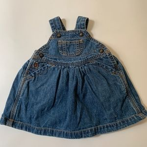 Baby Gap Denim Overall Dress- up to 3 mo
